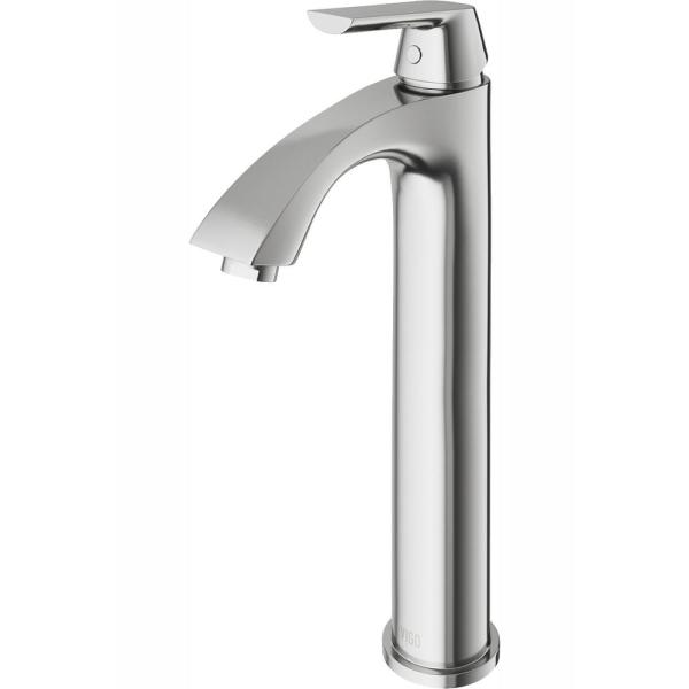 Linus Single Hole Single-Handle Vessel Bathroom Faucet in Brushed Nickel