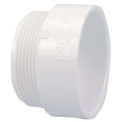 1-1/2 in. PVC DWV Hub x MIPT Male Adapter