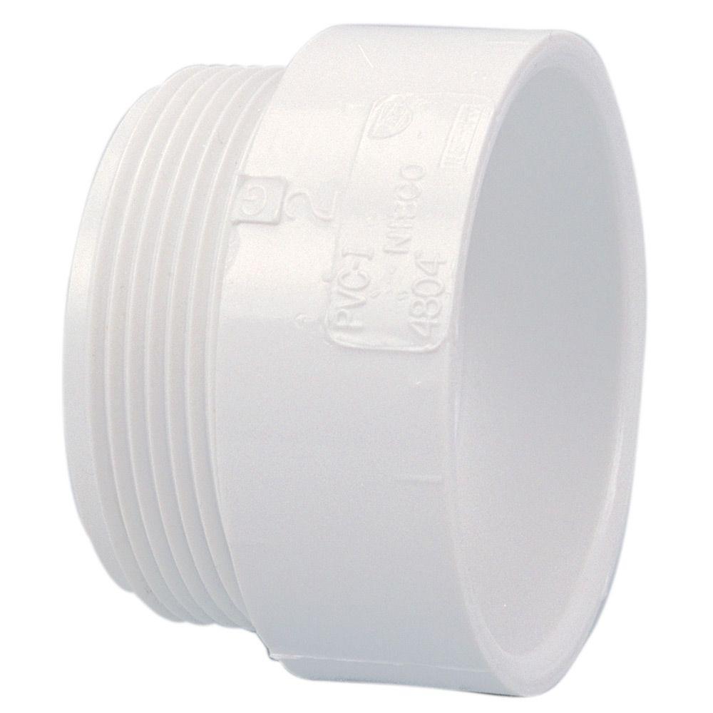NIBCO 1-1/2 in. PVC DWV Hub x MIPT Male Adapter