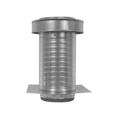 8 in. Dia. Aluminum Keepa Ducted Vent with Tail Pipe in Mill Finish