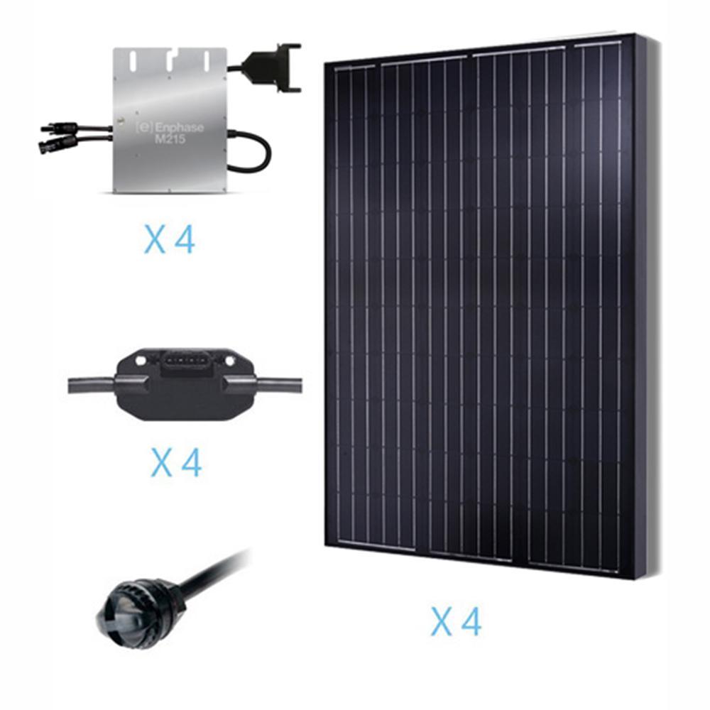 1000-Watt Monocrystalline Solar Kit for On-Grid Solar System