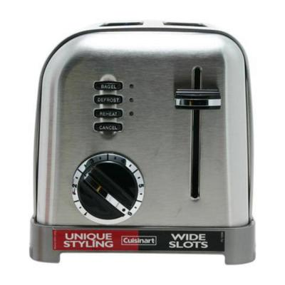 Classic 2-Slice Stainless Steel Wide Slot Toaster with Crumb Tray