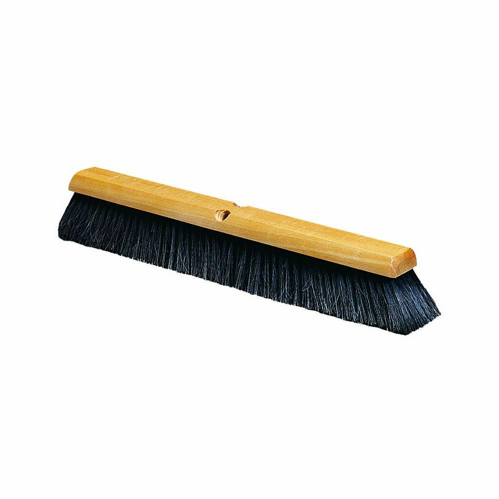 36 in. Fine Sweep broom, Horsehair Blend in Black (Case of