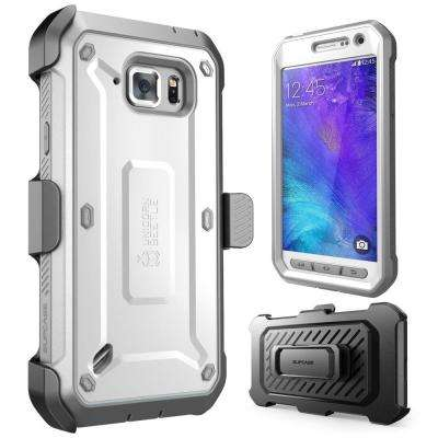 Galaxy S6 Active Unicorn Beetle Pro Full Body Case with Holster, White