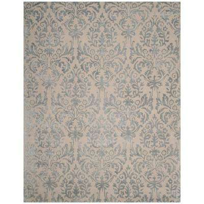 Bella Ivory/Silver 8 ft. x 10 ft. Area Rug