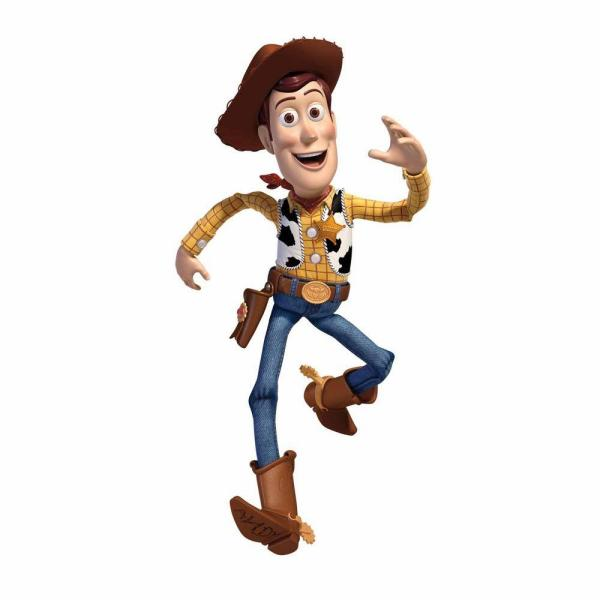 5 in. x 19 in. Toy Story Woody 18-Piece Peel and Stick Giant Wall Decals