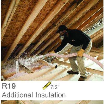 Installed R-19 Fiberglass Blown-in Attic Insulation