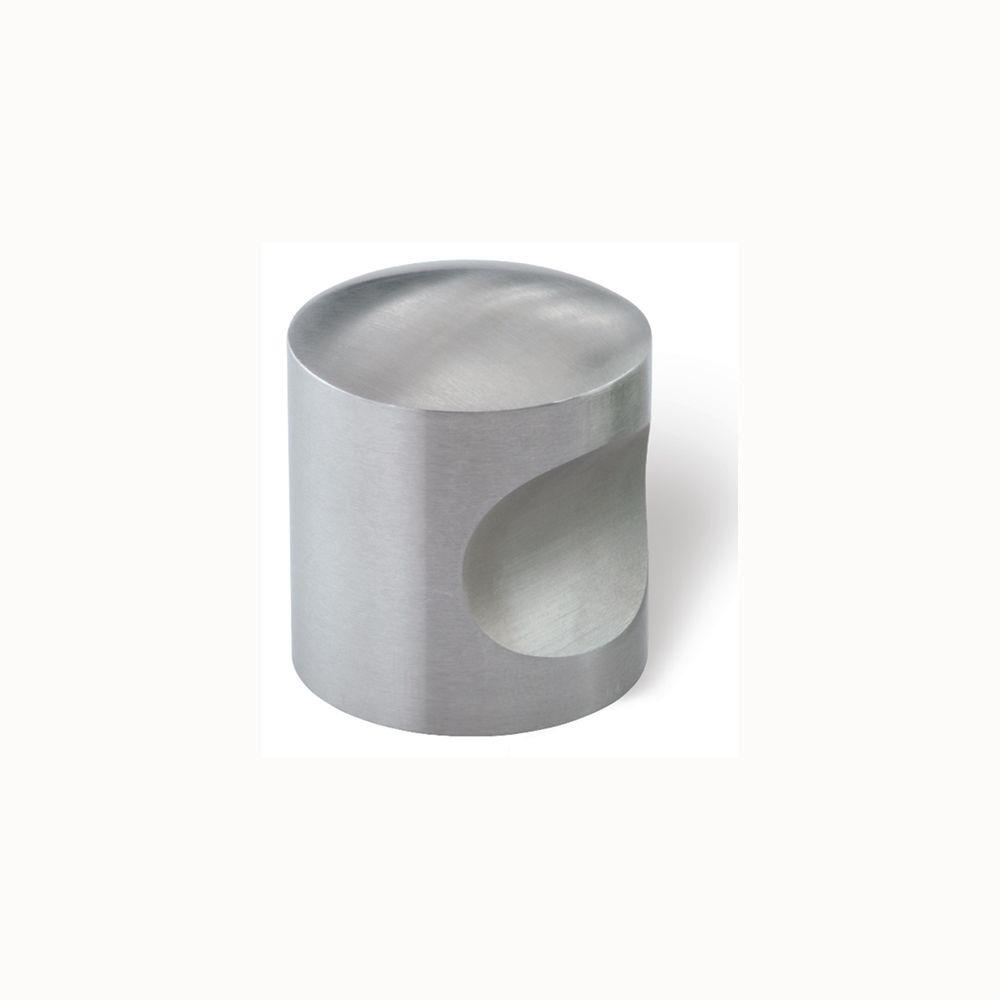 1-3/16 in. Fine Brushed Stainless Steel Cabinet Knob