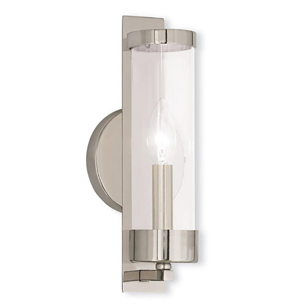 sconce lights light pn hudson sconces nickel valley polished in wall milan
