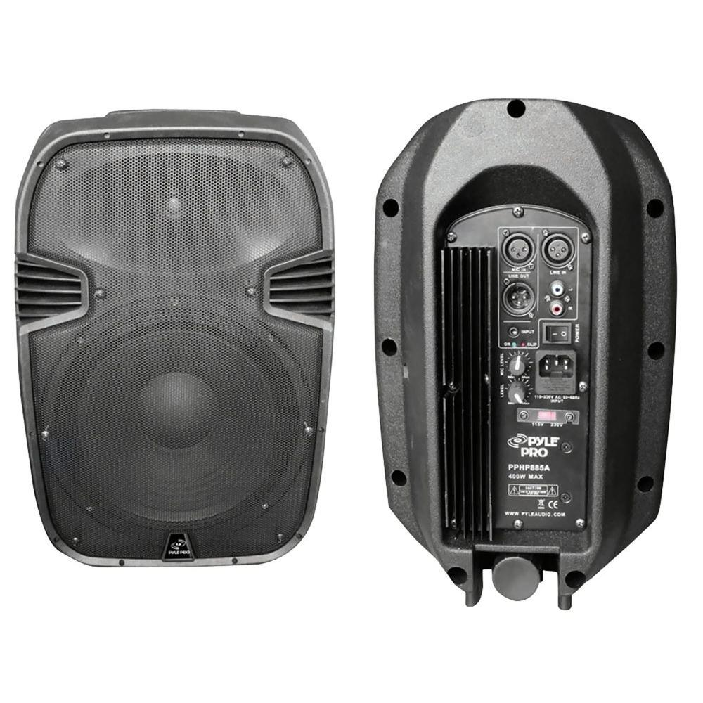Pyle 400 Watts 8 In. Powered 2 Way Plastic Molded Speaker System-DISCONTINUED