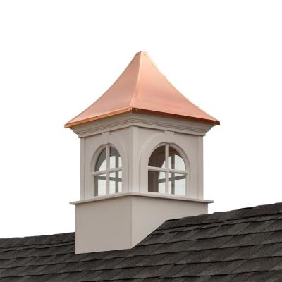 Smithsonian Fairfax 42 in. x 67 in. Vinyl Cupola with Copper Roof