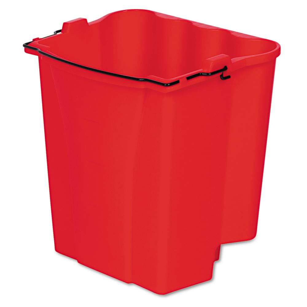 4.5 Gal. Plastic Water Bucket for Wave Brake Buckets, Red