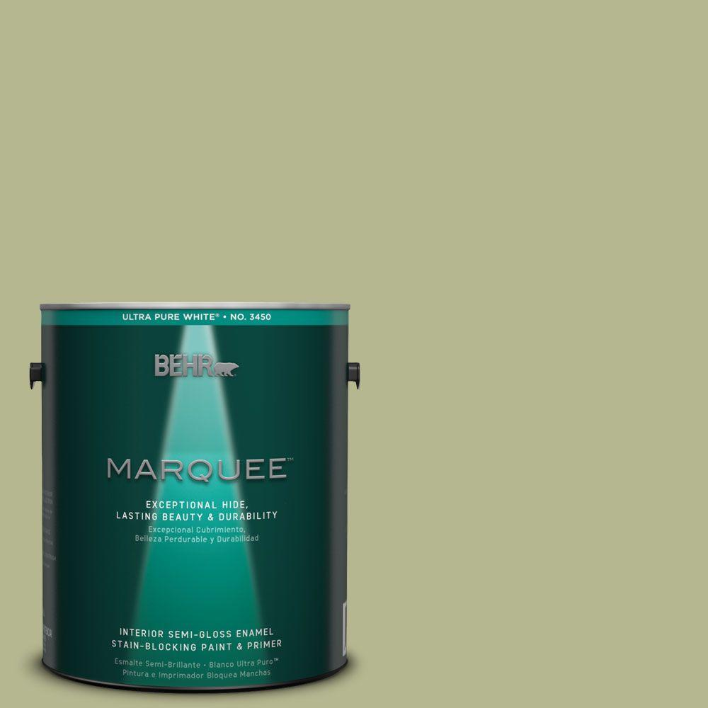 BEHR MARQUEE 1-gal. #HDC-SP14-1 Secret Glade Semi-Gloss Enamel Interior Paint