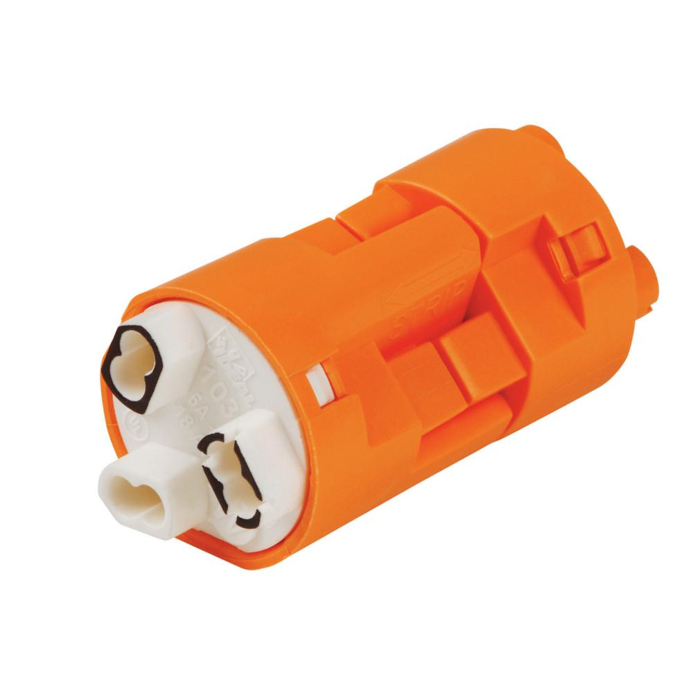 Model 103X, PowerPlug Luminaire Disconnect, 3 Wire in Orange (100 per
