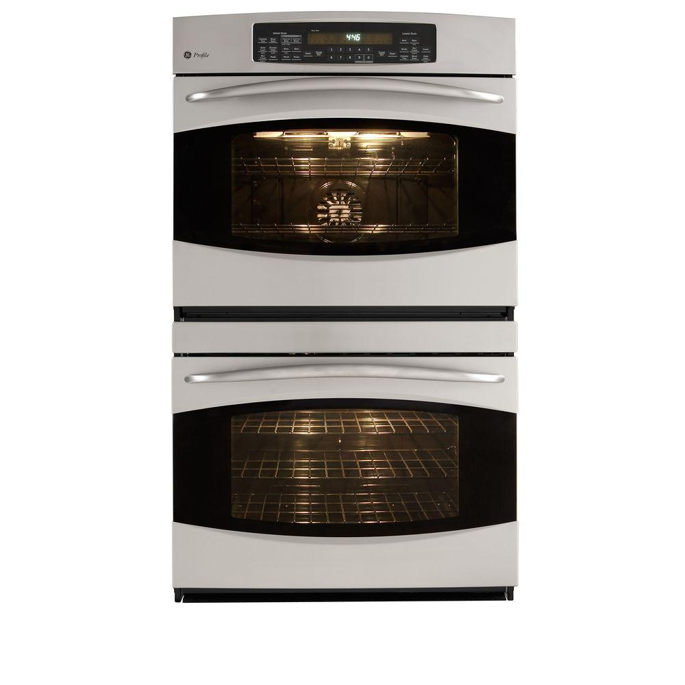 GE Profile 30 in. Double Electric Wall Oven Self-Cleaning with Convection in Stainless Steel