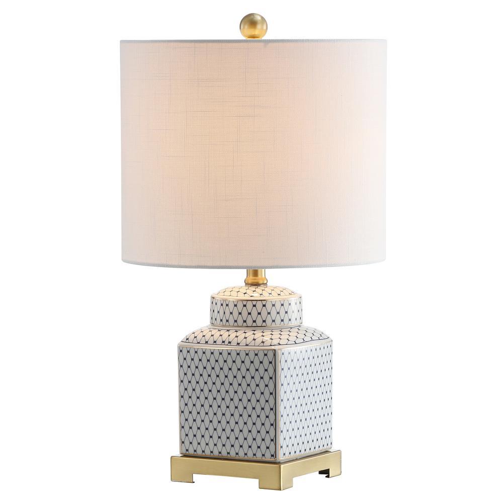 Ceramic Metal Ginger Jar Led Table Lamp White Black