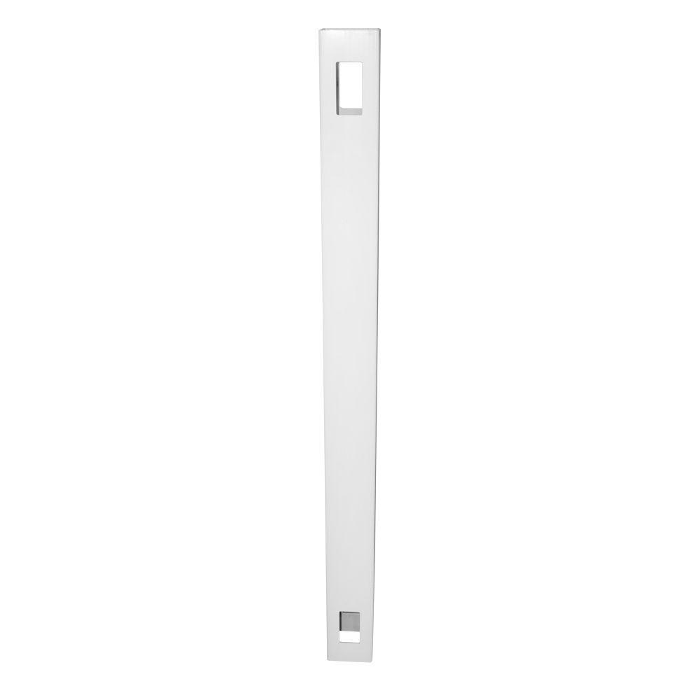Weatherables 5 in. x 5 in. x 8 ft. White Vinyl Fence Line Post