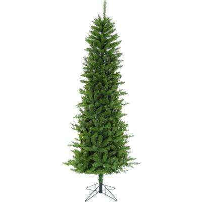 7.5 ft. LED Winter Wonderland Slim Green Christmas Tree with Warm White Lights