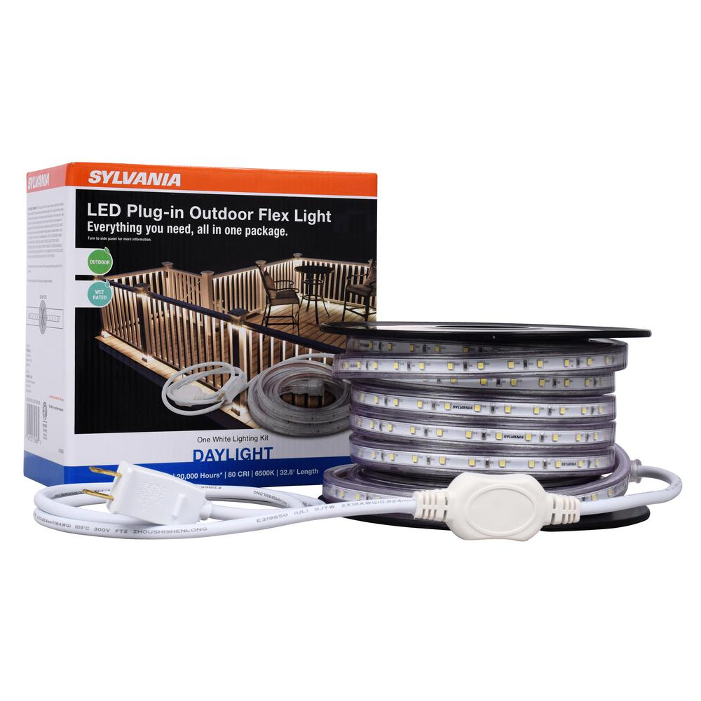 Sylvania 6500k 32 8 Ft Outdoor Flex Led Landscape Lighting Deck Rail Lights Set