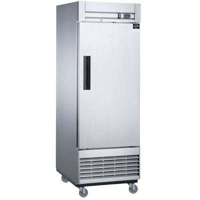 17.7 cu. ft. Auto-Defrost Commercial Upright Reach-in Freezer in Stainless Steel
