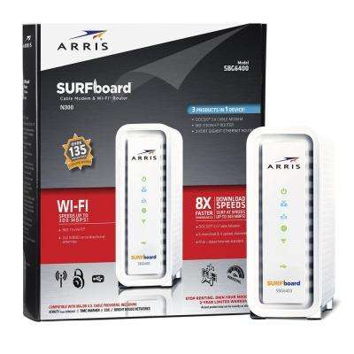 SURFboard DOCSIS 3.0 Cable Modem and Wi-Fi Router SBG6400 with Wireless Gateway