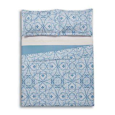 Marcello Blue Twin Extra Long Quilt Set