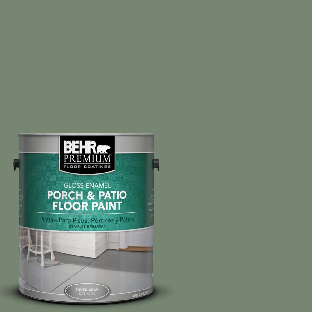 1 gal. #440F-5 Winter Hedge Gloss Porch and Patio Floor Paint