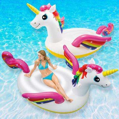 Mega Unicorn Island Pool Float (2-Pack)