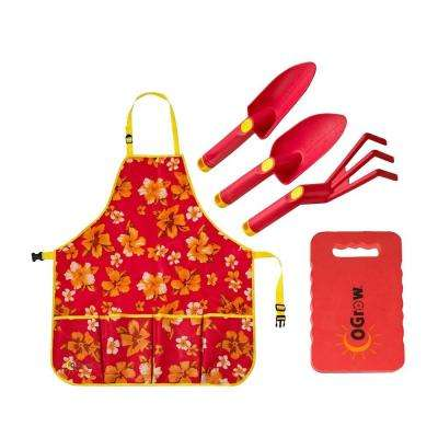 3-Piece Complete Gardening Kit in Raspberry