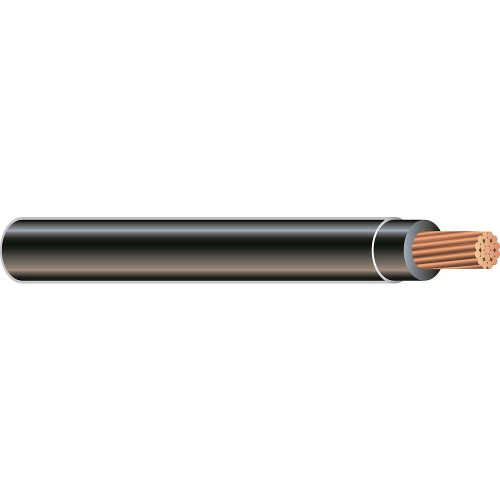 500 ft. 1/0 Black Stranded CU SIMpull THHN Wire