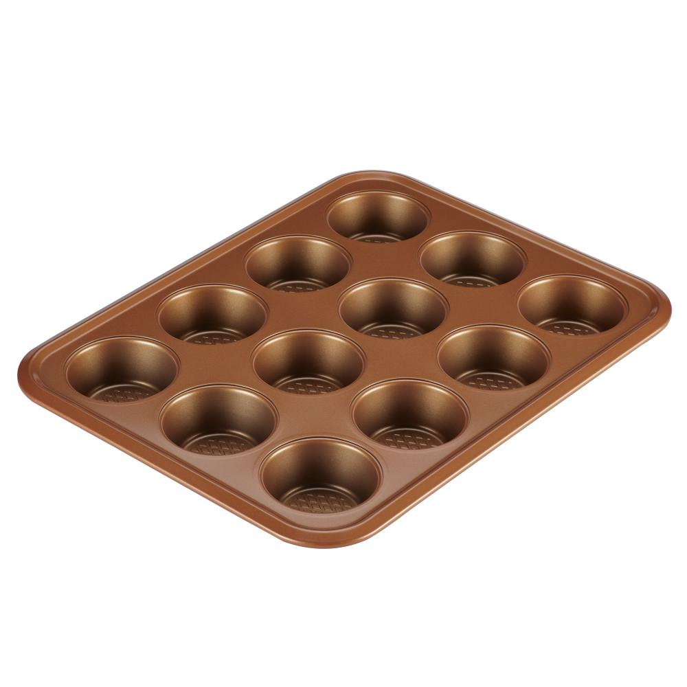 Bakeware 12-Cup Muffin Pan in Copper