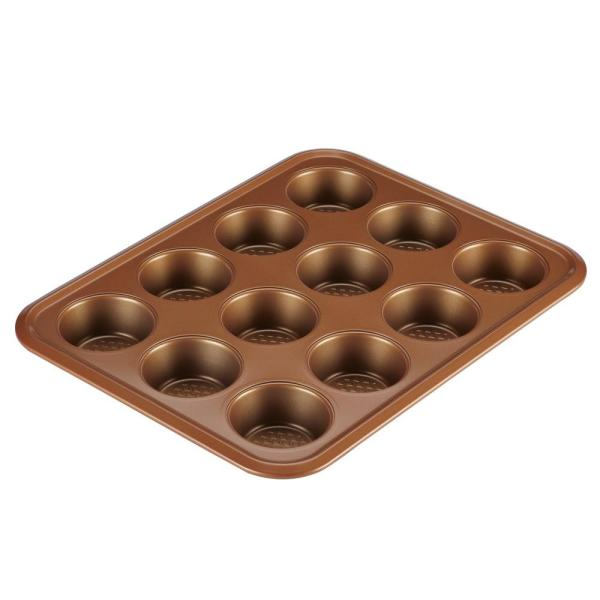 Ayesha Curry Bakeware 12-Cup Muffin Pan in Copper 47002