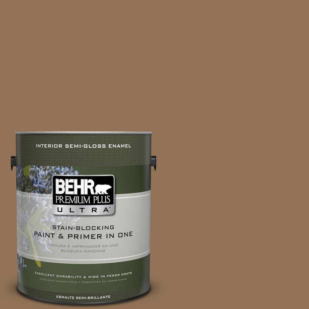 BEHR Premium Plus Ultra 1-gal. #290F-6 Warm Earth Semi-Gloss Enamel Interior Paint