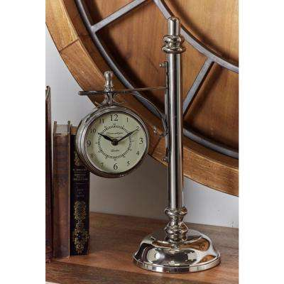 Vintage Silver Lamp Post Table Clock