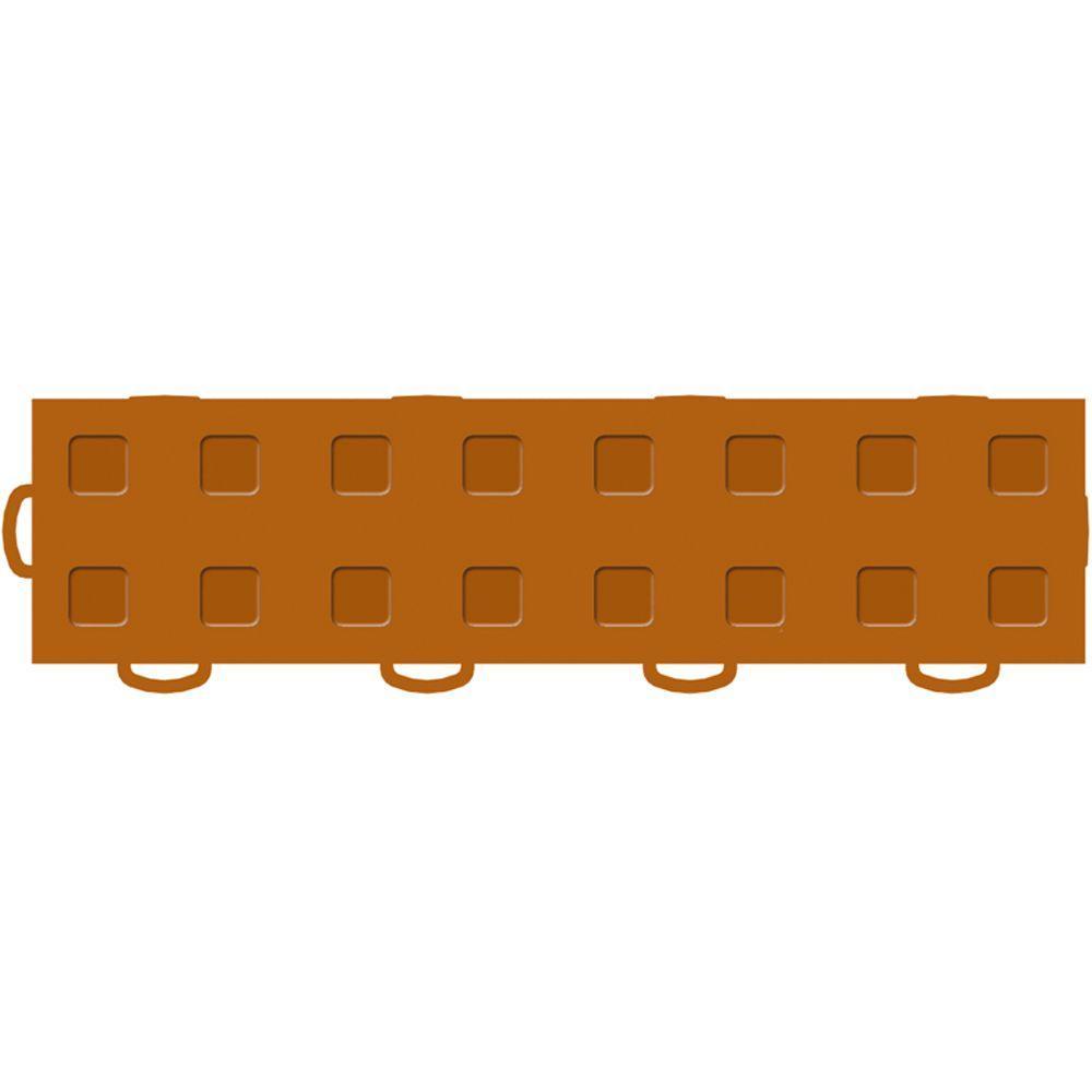 WeatherTech TechFloor 3 in. x 12 in. Terracotta/Terracotta Vinyl Flooring Tiles (Left Loop) (Quantity of 10)