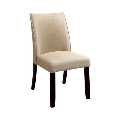 Cimma Ivory Contemporary Side Chair Flax Fabric (Set of 2)