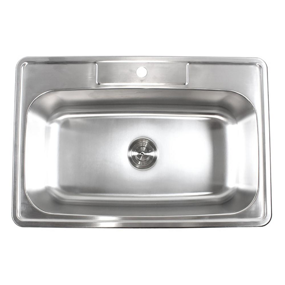 Best Kitchen Sink: EModernDecor Top Mount Drop-In Stainless Steel 18-Gauge 33