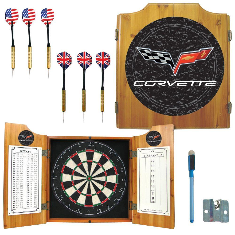Corvette Model C6 Wood Finish Dart Cabinet Set