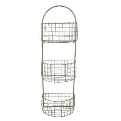 7 in. x 12 in. Metal 3-Tier Rack in Gold