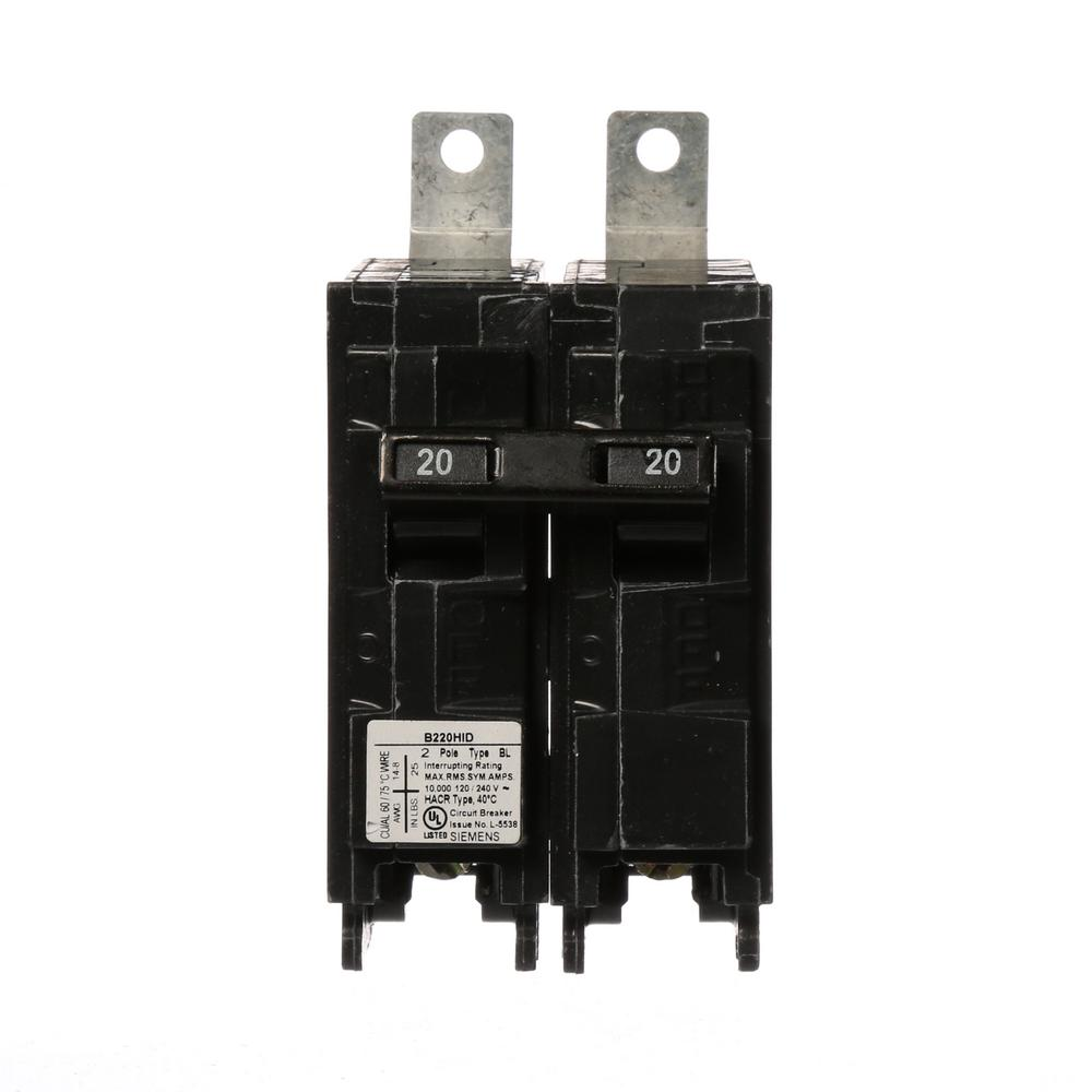 Gfci 2 Pole Breakers Circuit The Home Depot Shop Ge Qline Thql 20amp 1pole Ground Fault Breaker At 20 Amp Double Bolt In