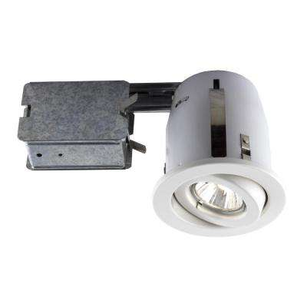 300 Series 4 in. White Recessed Halogen Lighting Kit (10-Pack)