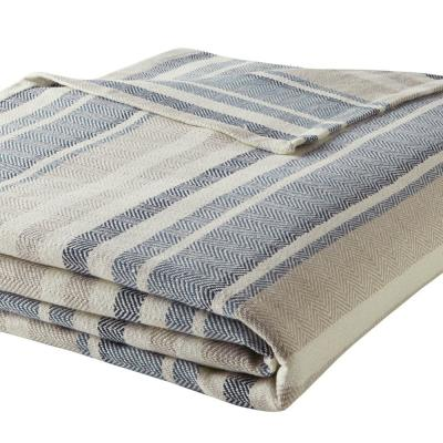 Blue Cotton Woven Blanket