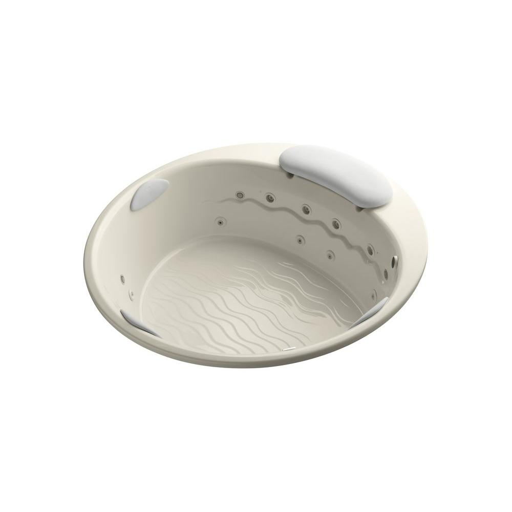 KOHLER Riverbath 6.25 ft. Whirlpool Tub in Almond-DISCONTINUED
