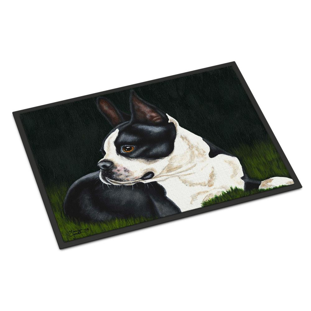 18 in. x 27 in. Indoor/Outdoor Boston Terrier Beauty Door Mat