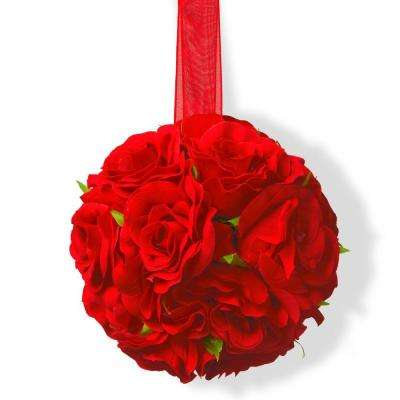 5 in. Valentine Rose Ball Decor (Set of 4)