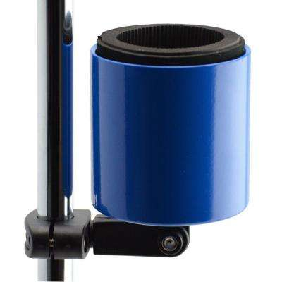 Kroozercups Deluxe Drink Holder Fits Bars from 5/8 in. to 1-3/8 in. at any Angle with New Super-Tight Grip in Blue