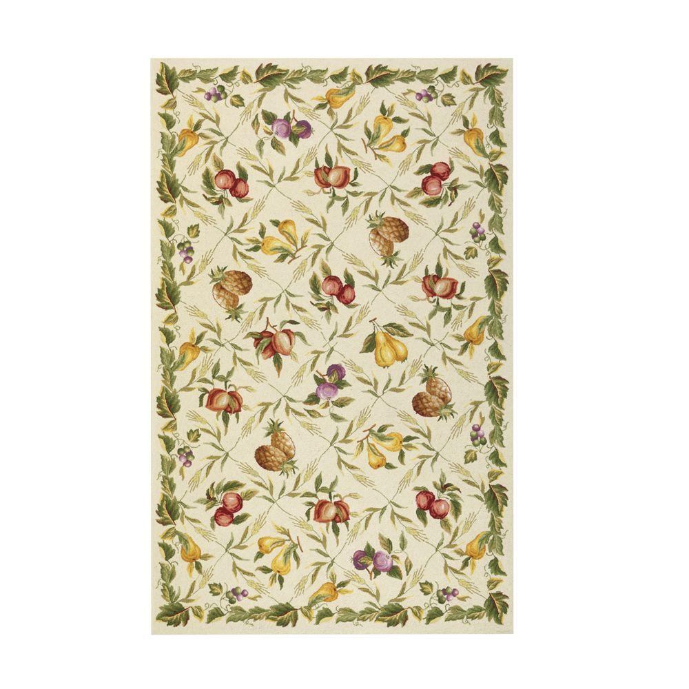 Home Decorators Collection Fruit Garden Ivory 7 ft. 9 in. x 9 ft. 9 in. Area Rug