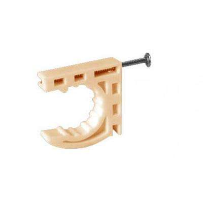 Right Strap 3/4 in. Plastic Multi-Functional Pipe Clamps with Preloaded Nail (Carton of 20)