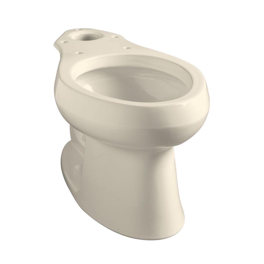 kohler wellworth elongated toilet bowl only in biscuit k 4198 96 the home depot. Black Bedroom Furniture Sets. Home Design Ideas