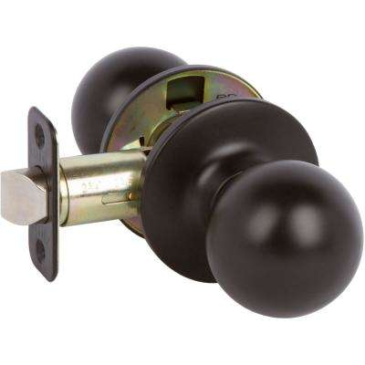 Fairfield Rustic Style Black Round Hall/Closet Door Knob